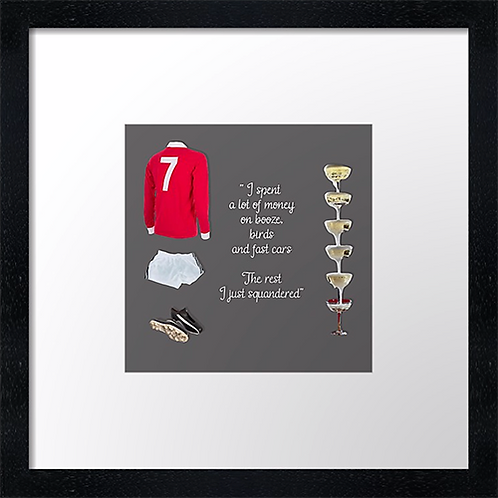 "Manchester United  (5) example shown 10"" Framed print £21.50)"