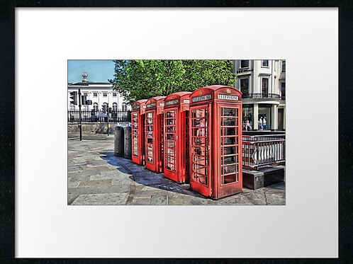 London (15) print or canvas print (example shown 40cm x 30cm framed print)