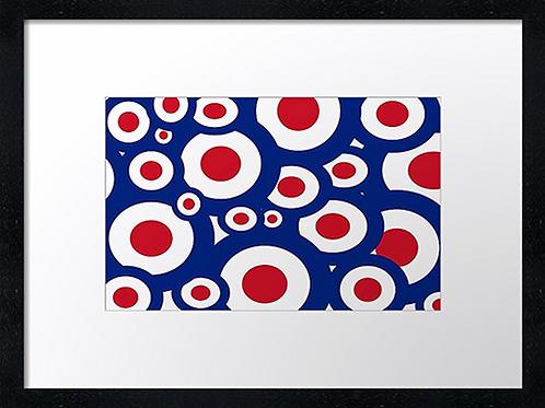 Mod targets 40cm x 30cm framed print, canvas print or A4, A3 moun