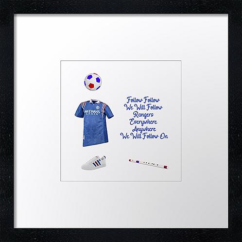 """Rangers (2) (Example shown 10"""" Framed print £21.50)"""