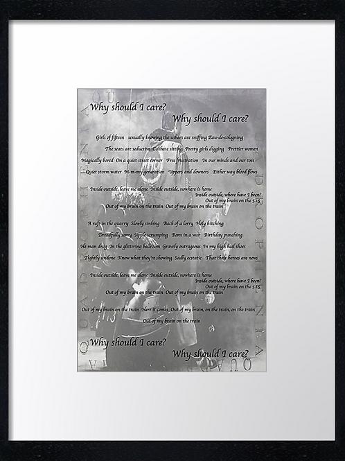 5:15 40cm x 30cm framed print, canvas print or A4, A3 mounted print