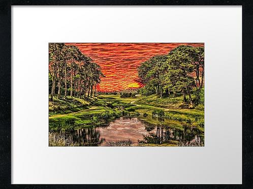 Westhill golf cub (Vivid) Print or canvas. Example 40cm x 30cm framed