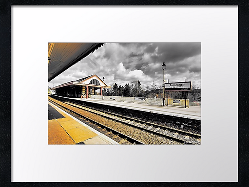 Aviemore station  40cm x 30cm framed print or canvas pri