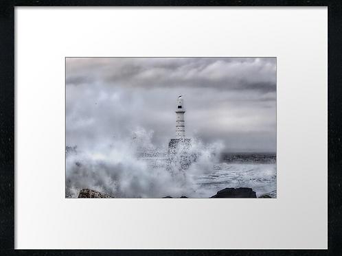 Stormy seas print or canvas print (example shown 40cm x 30cm framed pri