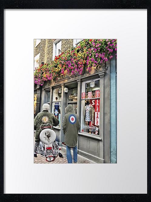 Carnaby St 40cm x 30cm framed print, canvas print or A4, A3 moun