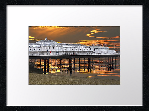 Brighton (4) 40cm x 30cm framed print, canvas print or A4, A3 mounted print