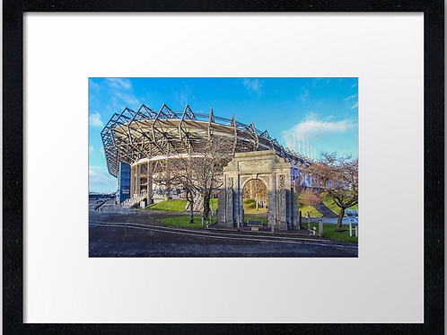 Murrayfield stadium  (3) 40cm x 30cm framed print or canvas print