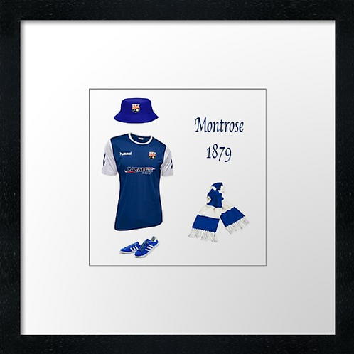 "Montrose fc match ready (Example shown 10"" Framed print £21.50"