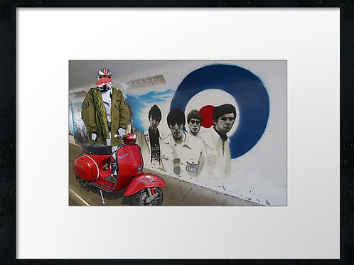 Brighton clone trooper mod. Example shown  40cm x 30cm framed print