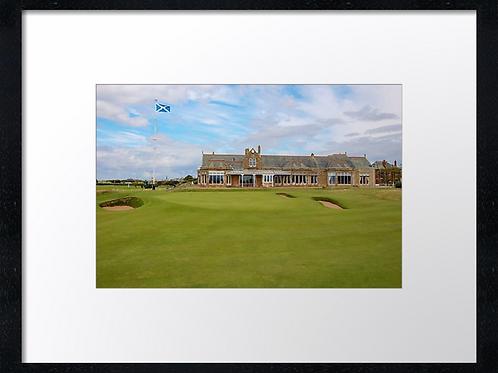 Royal Troon golf course 40cm x 30cm framed print of canvas print