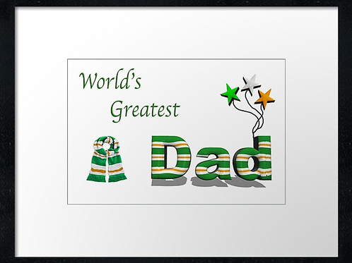 Celtic Dad designs (3) example 40cm x 30cm framed print, canvas print or