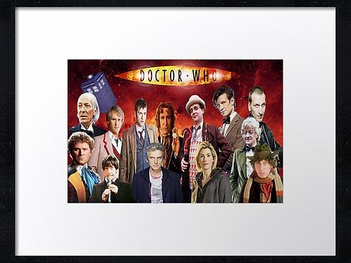 Dr Who (1) 40cm x 30cm framed print or canvas print