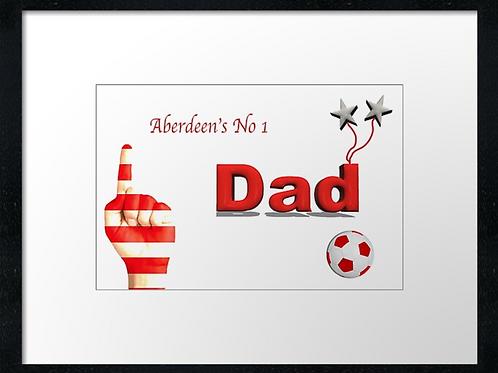 Aberdeen FC, Dad (1) print or canvas print