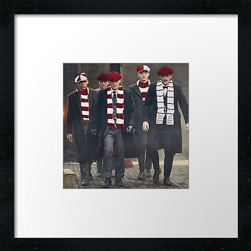"""Hearts fans  (Example shown 10"""" Framed print £21.50)"""