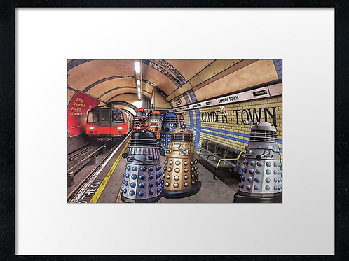 Unusual tourists on the tube.  Print or canvas. Example 40cm x 30cm fr