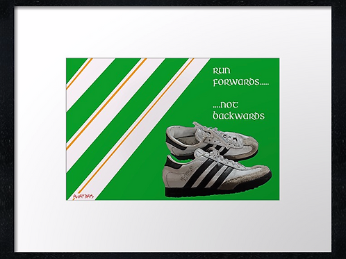 Celtic Away days (1). Example shown 40cm x 30cm framed print or canvas p