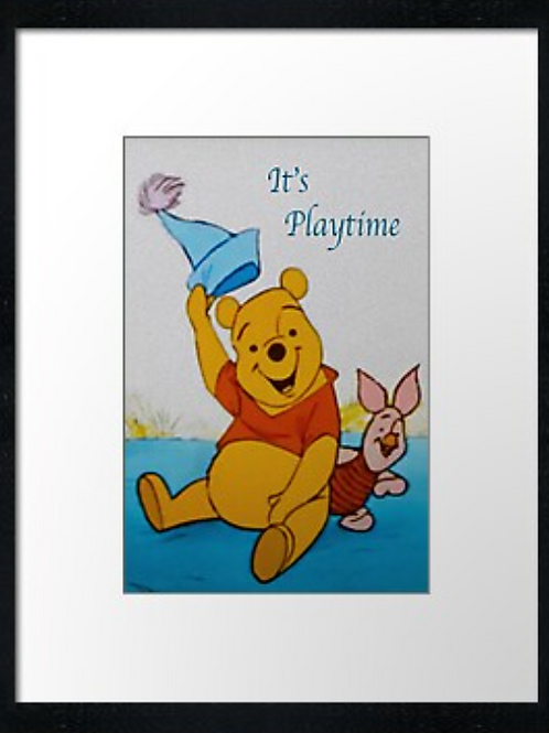 Winnie-the-Pooh (4) example shown 40cm x 30cm framed print