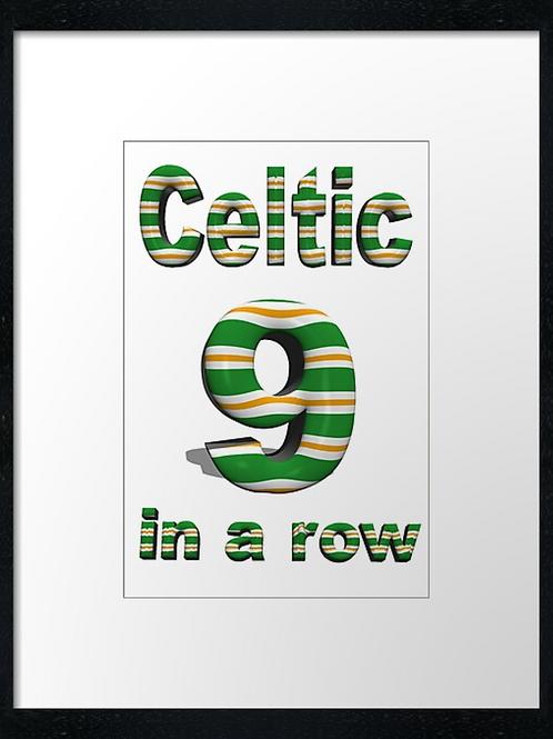 Celtic 9 in a row (4) example 40cm x 30cm framed print, canvas print or