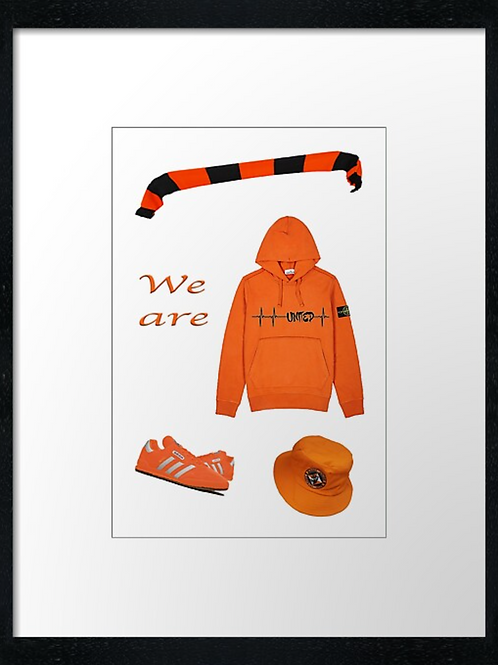 Dundee United, We are United. Print or canvas print