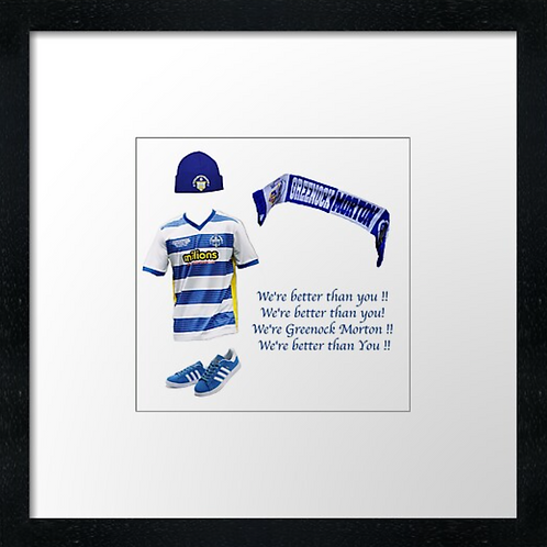 "Morton fc match ready (Example shown 10"" Framed print £21.50)"