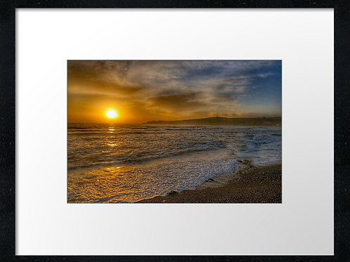 Stonehaven North Sea sunset print or canvas print