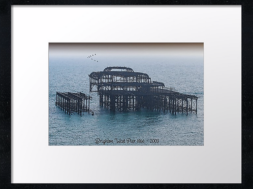 West Pier 40cm x 30cm framed print, canvas print or A4, A3 mounted