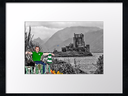 Neil Lennon, King of Scotland 40cm x 30cm framed print or canvas print