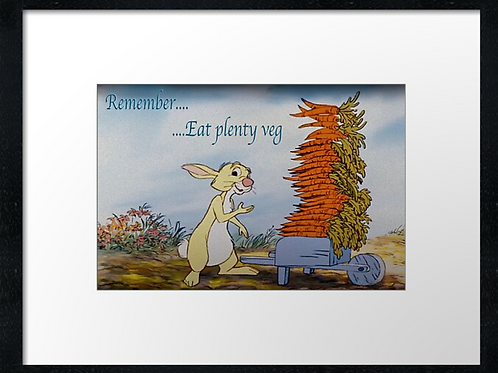 Winnie-the-Pooh (8) example shown 40cm x 30cm framed print
