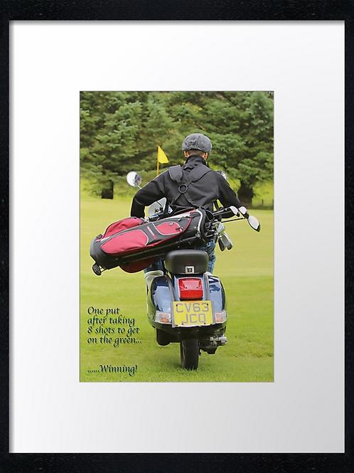 Golf boy quotes (3) 40cm x 30cm framed print or canvas print