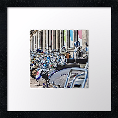 "Scooters at Brighton (1) Example shown is 10"" Framed print £21.50"