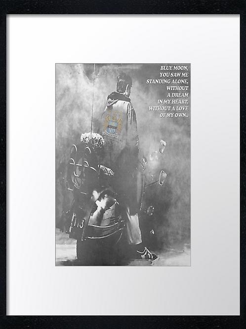 Manchester City (2) 40cm x 30cm framed print or canvas print