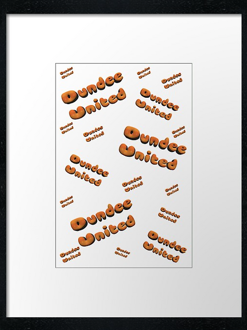Dundee United 3D effect  40cm x 30cm framed print or canvas pri