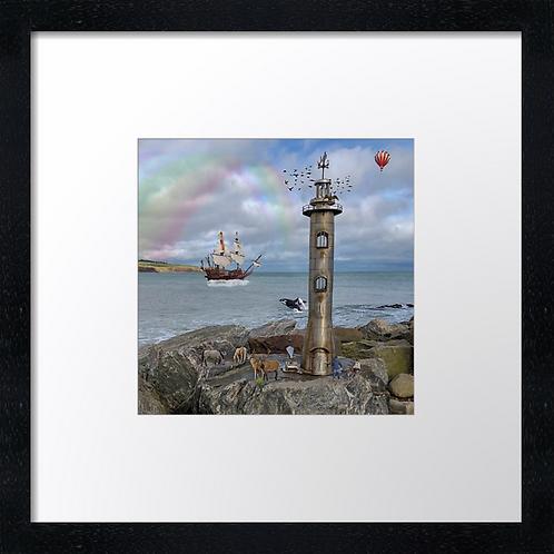 """Little Stonehaven Example shown 10"""" framed print £21.50"""