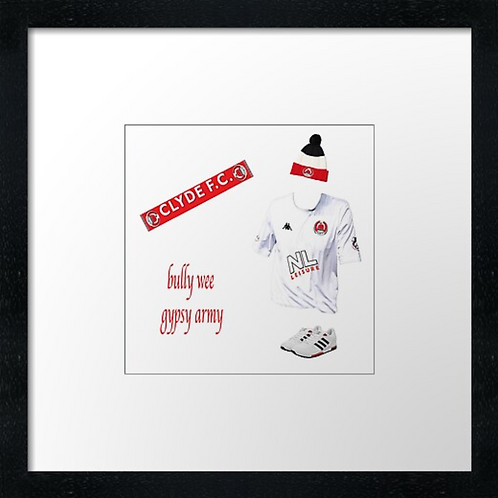 "Clyde fc match ready (Example shown 10"" Framed print £21.50"