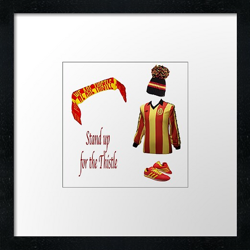 "Partick Thistle fc match ready (Example shown 10"" Framed print £21.50)"