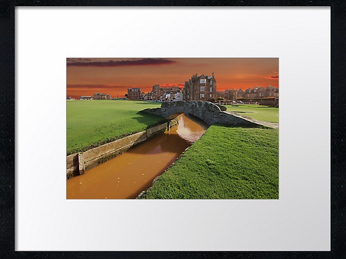 St Andrews Golf 5 Print or canvas. Example 40cm x 30cm framed print