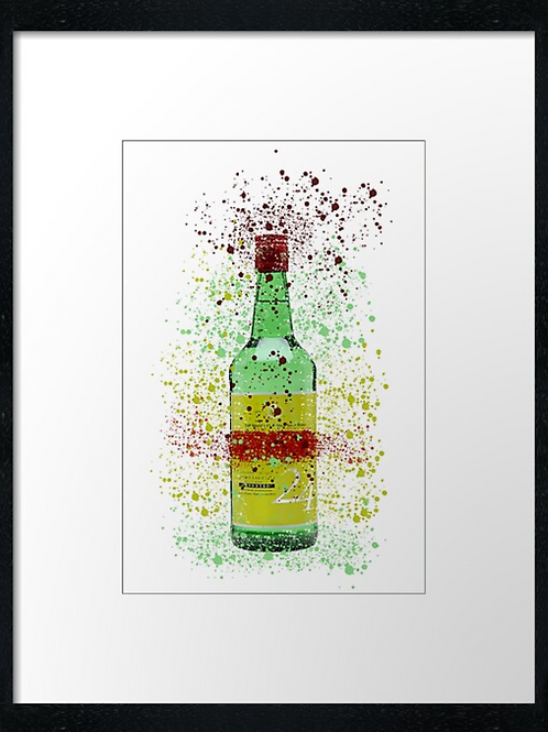 Jinro Splatter,  example shown 40cm x 30cm framed print