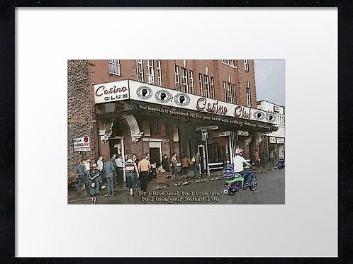Wigan casino 40cm x 30cm framed print, canvas print or A4, A3 mounted