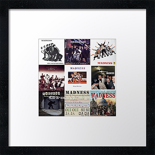 "Madness albums Print or canvas print Example shown is 10"" Framed print £21.50"