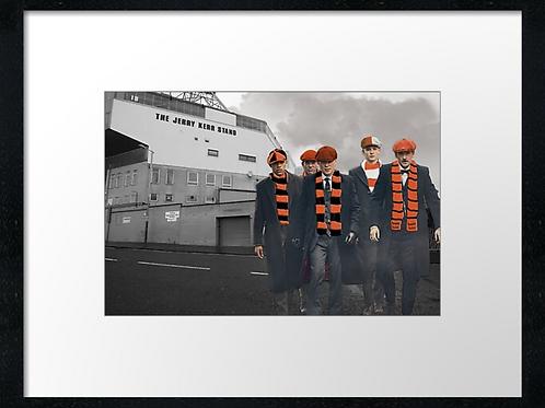 Dundee United match day  40cm x 30cm framed print or canvas pri