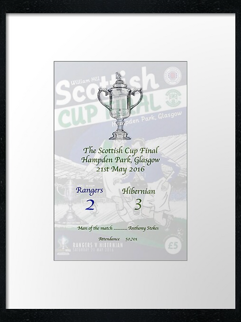 Hibs Cup winners 2016 framed print or canvas print