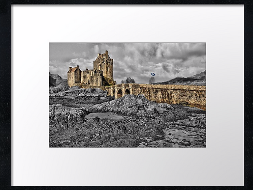 Eilean Donan castle (3) 40cm x 30cm framed print or canvas print