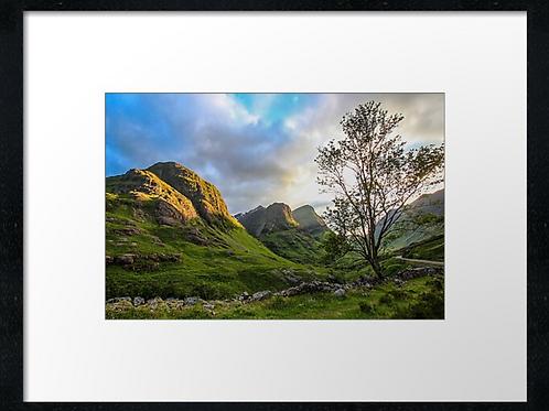 Glencoe mountain range (8)  40cm x 30cm framed print or c