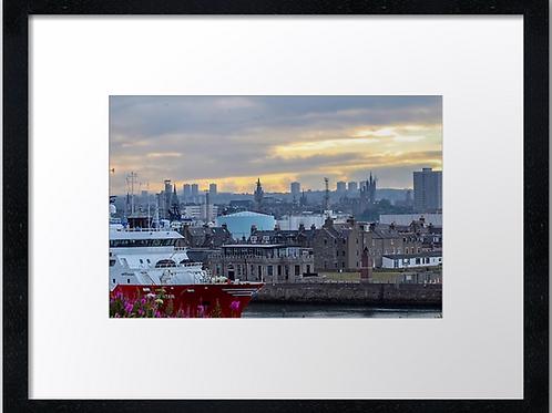 Aberdeen Skyline (2) 40cm x 30cm framed print or canvas pri