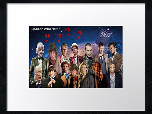 Dr Who (2) 40cm x 30cm framed print or canvas print