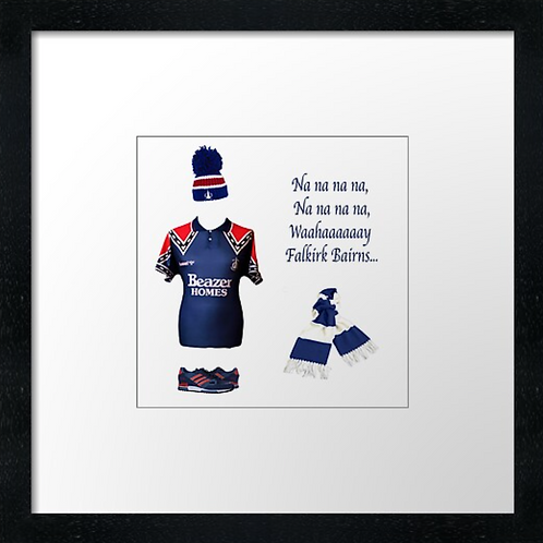 "Falkirk fc match ready (Example shown 10"" Framed print £21.50"