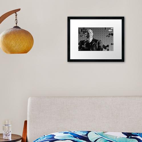 Nucky 2 print or canvas print. Example shown 40cm x 30cm frame