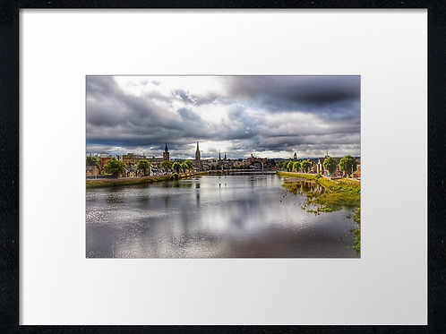 Inverness Bridges (5) 40cm x 30cm framed print or canvas pri