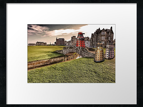 Unusual tourists at St.Andrews.  Print or canvas. Example 40cm x 30cm framed