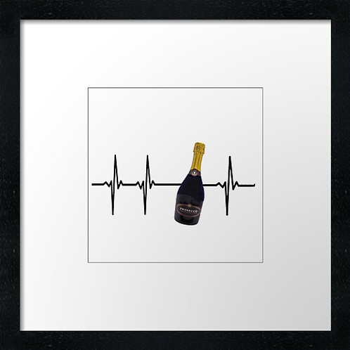 "Wine heart Print or canvas print Example shown is 10"" Framed prin"